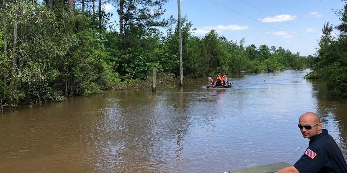 Dozens being rescued from rising water in George County