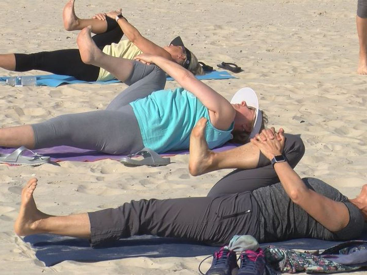Treehouse Yoga takes its class to the beach
