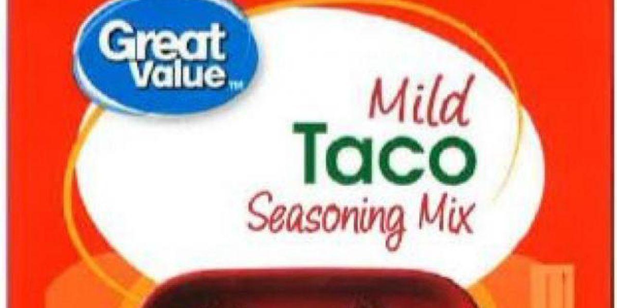 Recall: Great Value Taco Seasoning sold at Walmart