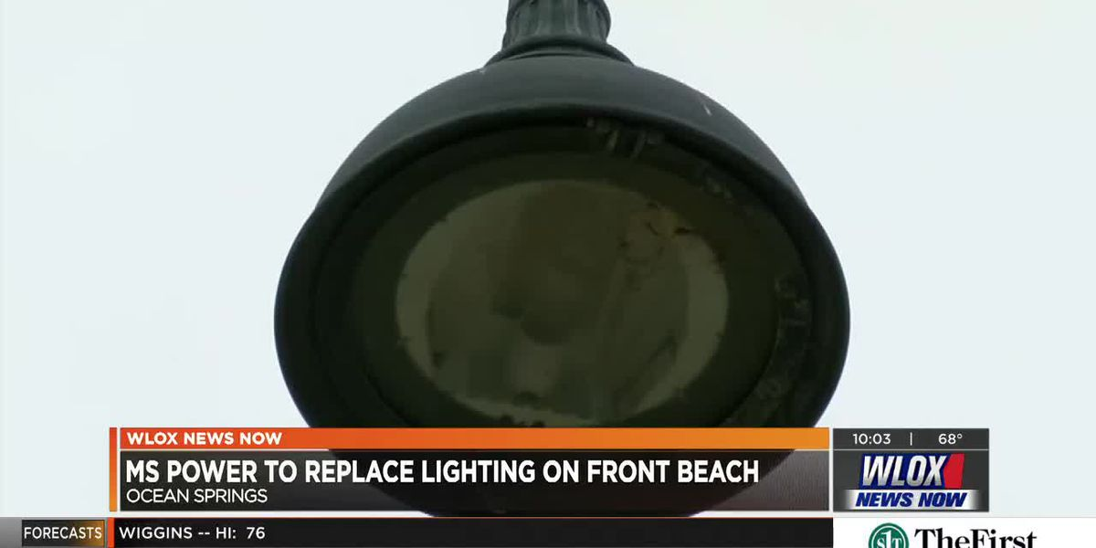 Temporary lights to go up at Ocean Springs beach