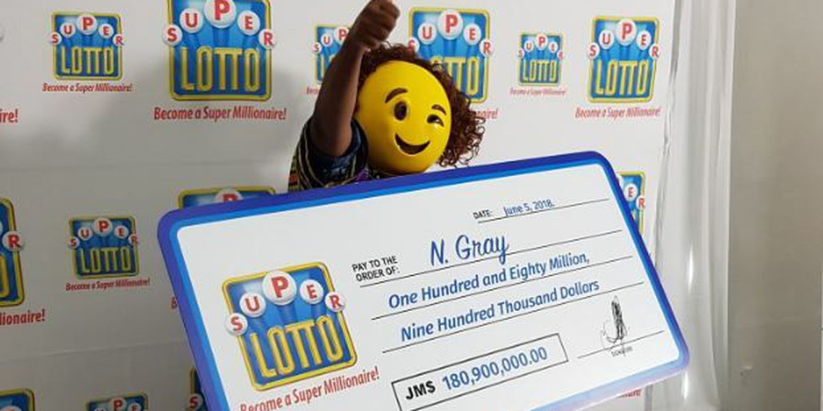 Lotto winner wears winking emoji mask to collect $180M prize