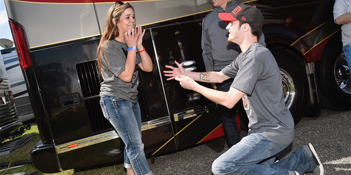 South MS man gets help from NASCAR great Jeff Gordon for surprise proposal