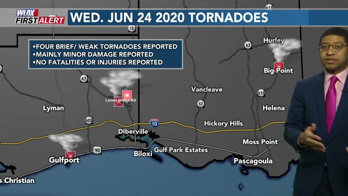 At least 4 tornadoes confirmed from Wednesday