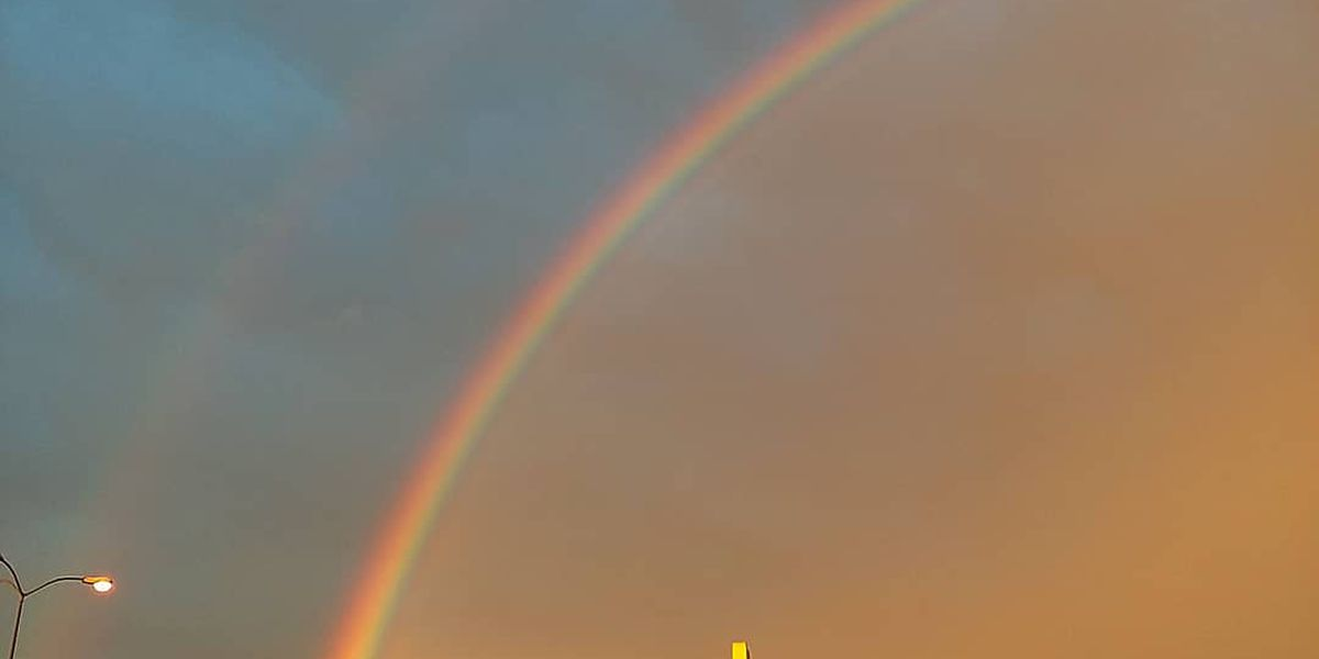 Double rainbow dazzles South Mississippi skies