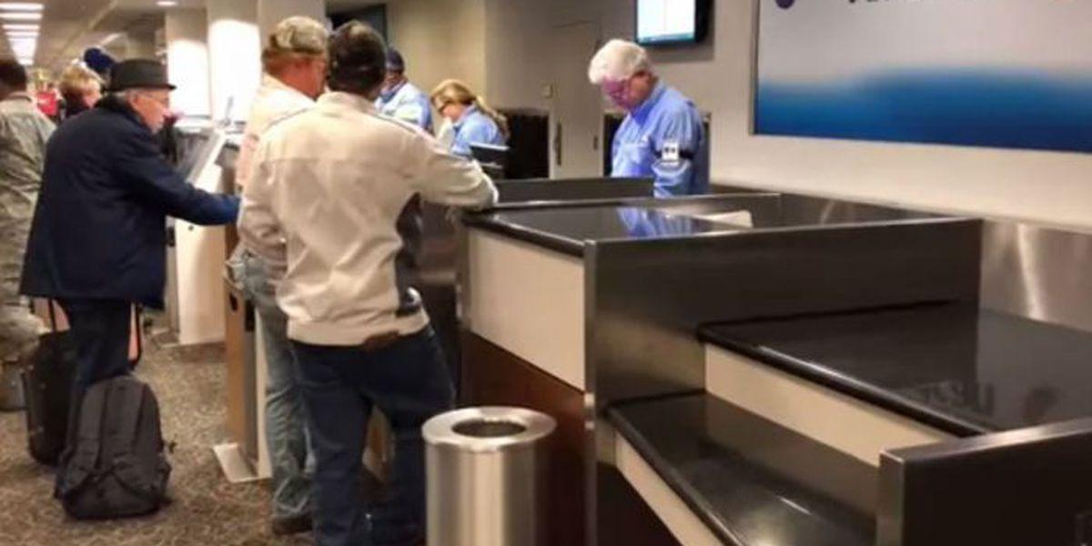 Heavy holiday travel day at Gulfport-Biloxi Airport