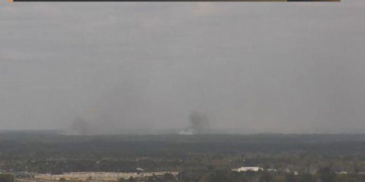 1,300 acre prescribed burn billowing smoke in Harrison Co.