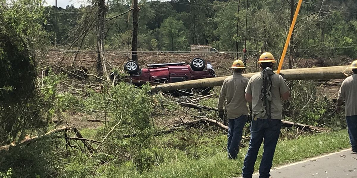 George County cleaning up after Tuesday morning tornado damage