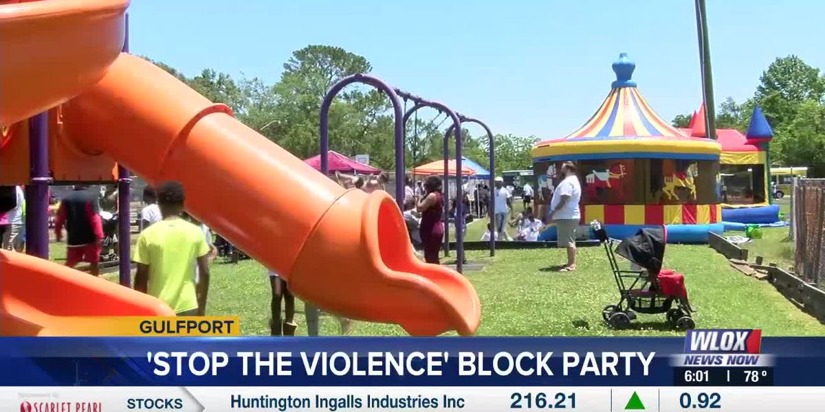 Gulfport community leaders host 'Stop the Violence' block party