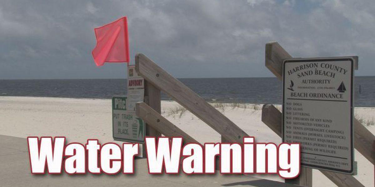 Beach advisories issued in Ocean Springs, Pascagoula