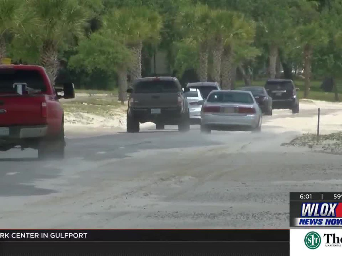 Sand on Hwy. 90 causing headaches for drivers, officials