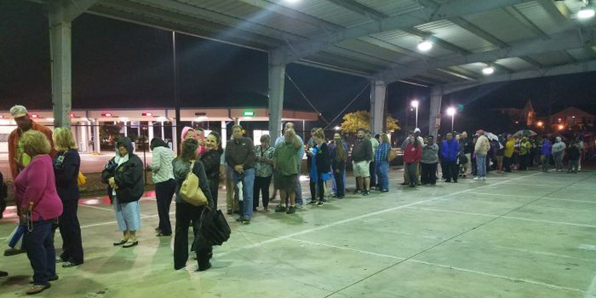 Strong turnout means voters are still waiting after the polls close