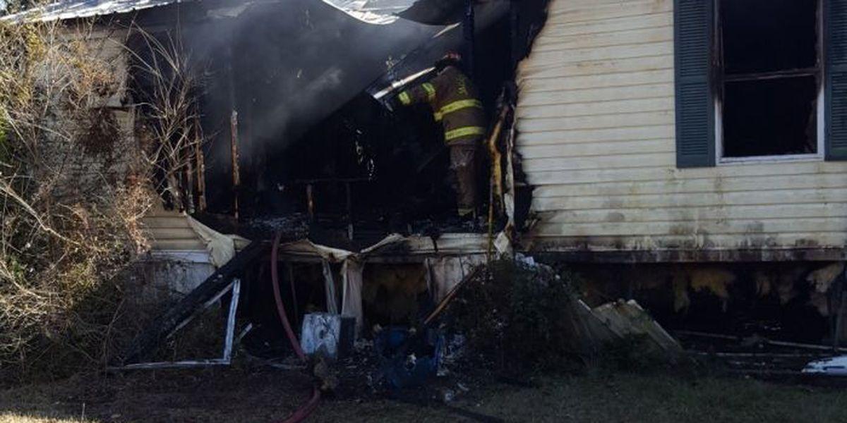 Fire devastates Jackson County home