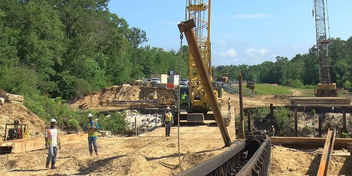 Highway 57 bridge construction on schedule