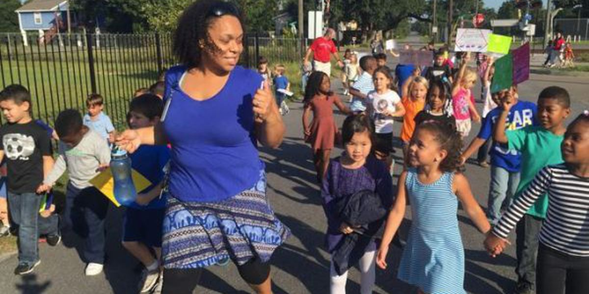 Pass Christian Elementary takes part in Walk to School Day