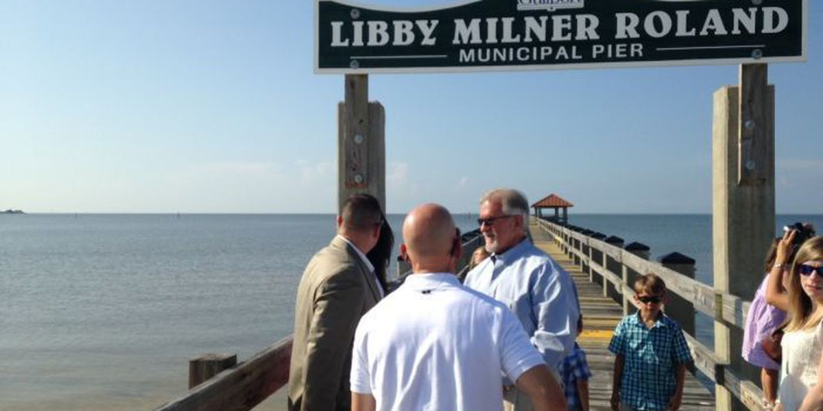 City of Gulfport honors Libby Milner Roland with pier dedication