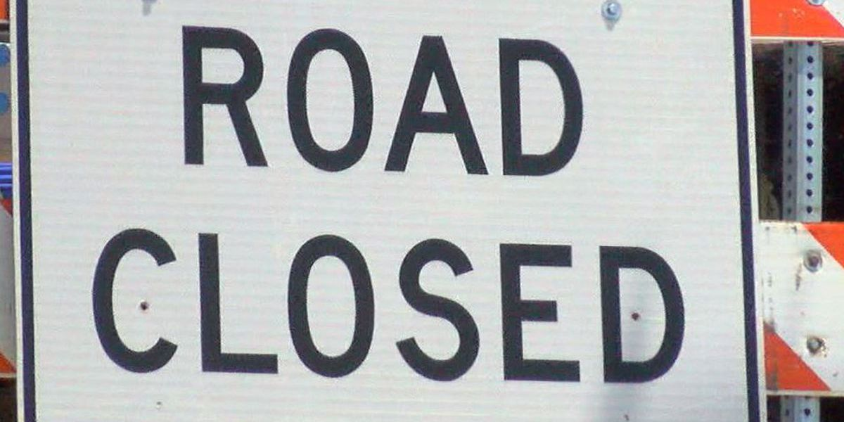 High water forces road closure in Biloxi