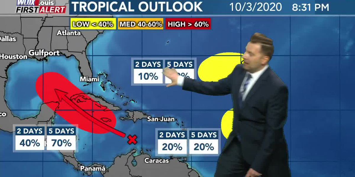 Fall weather continues, high chance for tropical development in Gulf