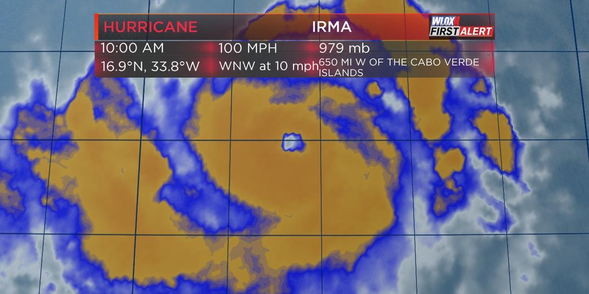 Irma strengthens to Category 2 hurricane