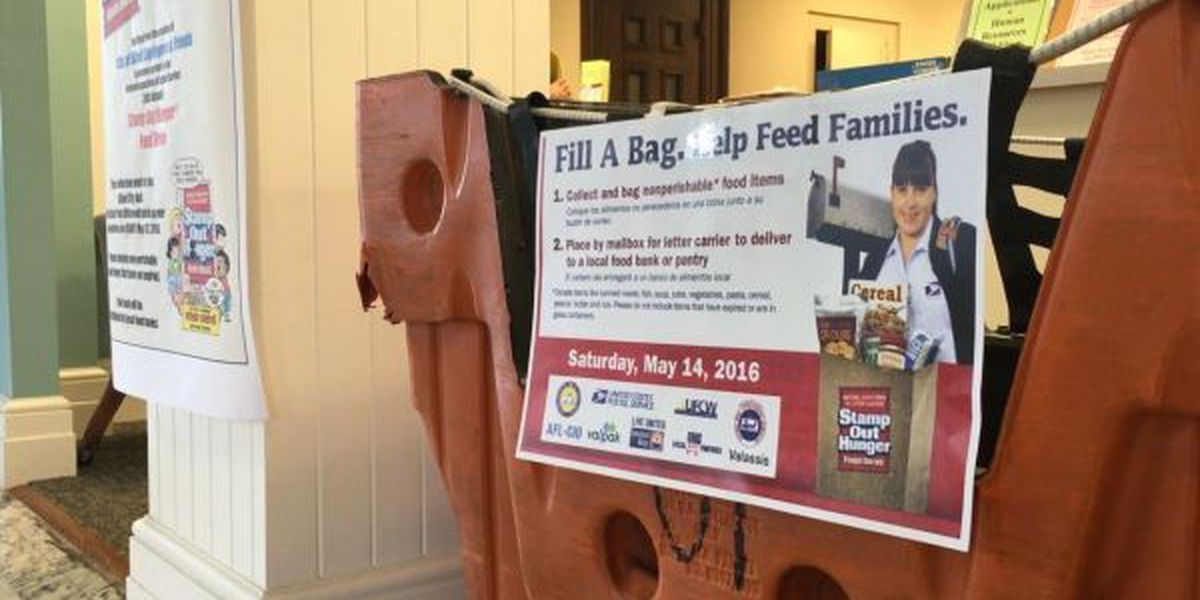 Mail carriers participating nationwide food drive