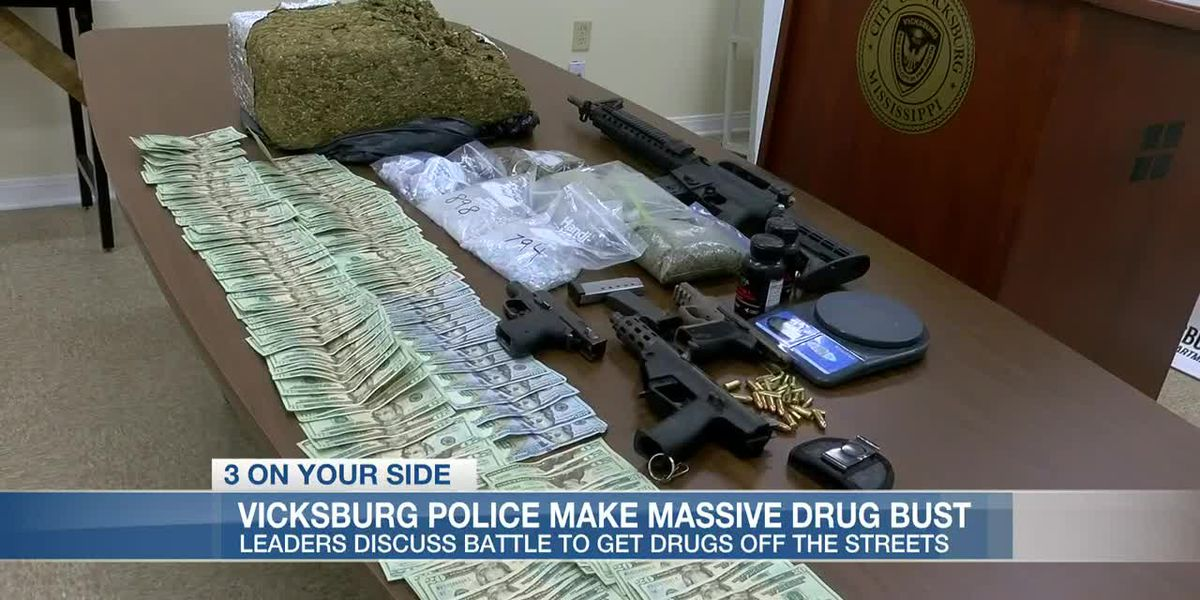 $25,000 in pills, guns seized in massive drug bust in Vicksburg