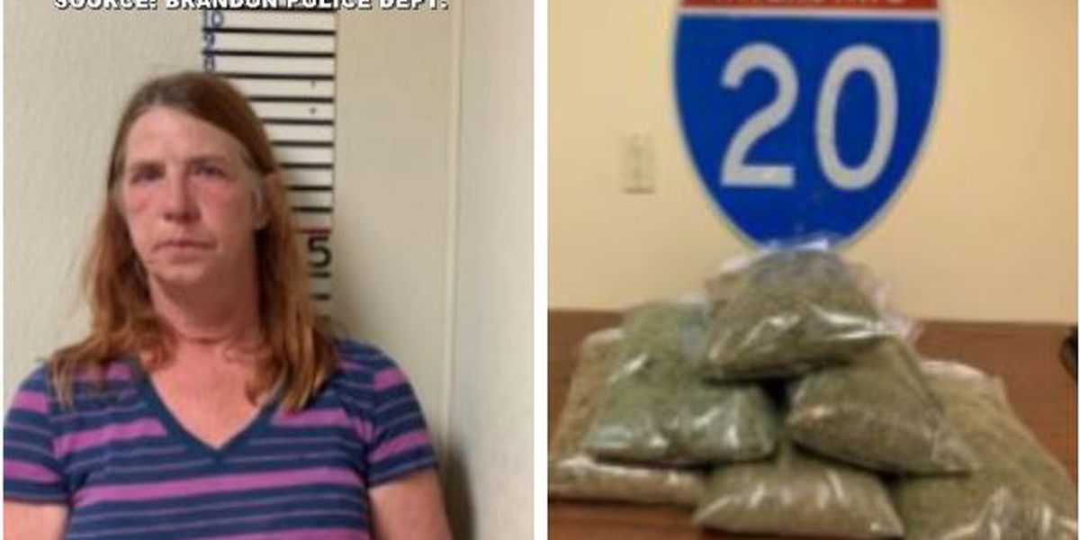 Woman arrested after 6 lbs. of marijuana found during traffic stop in Brandon