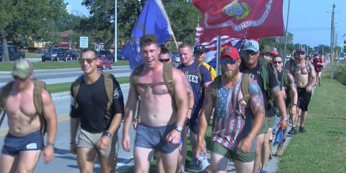 Veteran group marches to raise awareness for veteran suicide