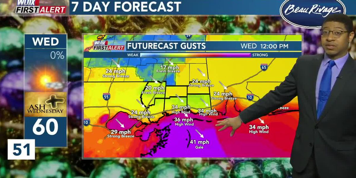 Wesley's Tuesday First Alert Weather Forecast