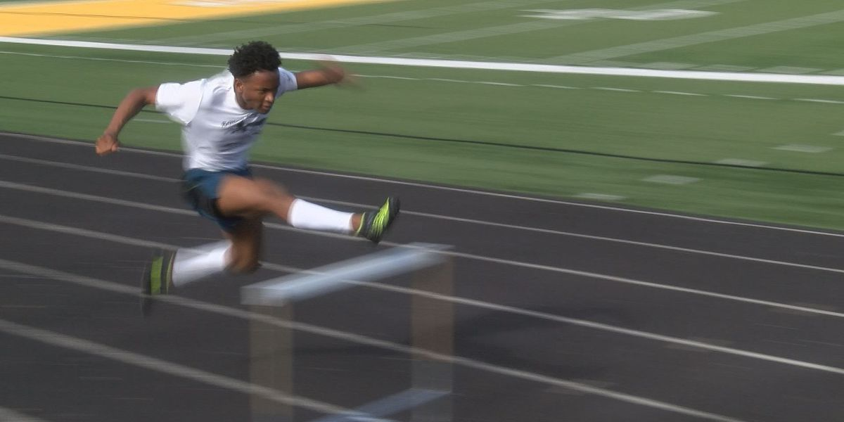 Chris Hudnall of D'Iberville High School is one of the top hurdlers in the nation