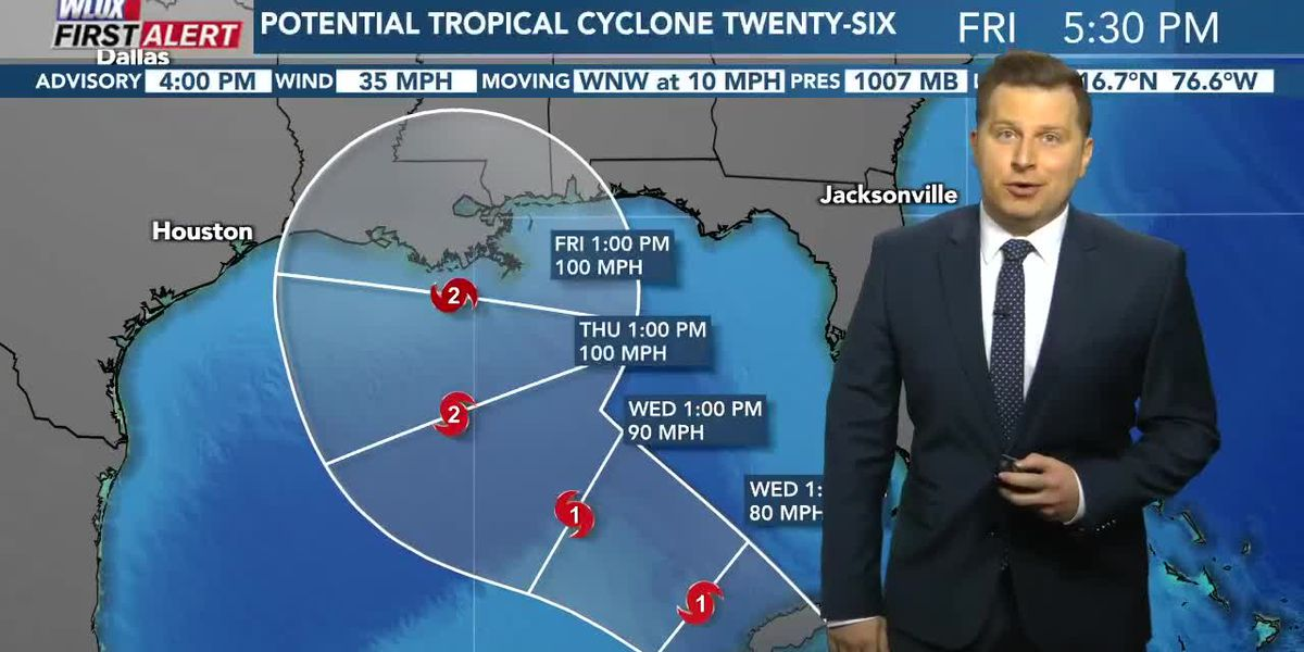 Tropical wave could approach north/central Gulf coast as a hurricane