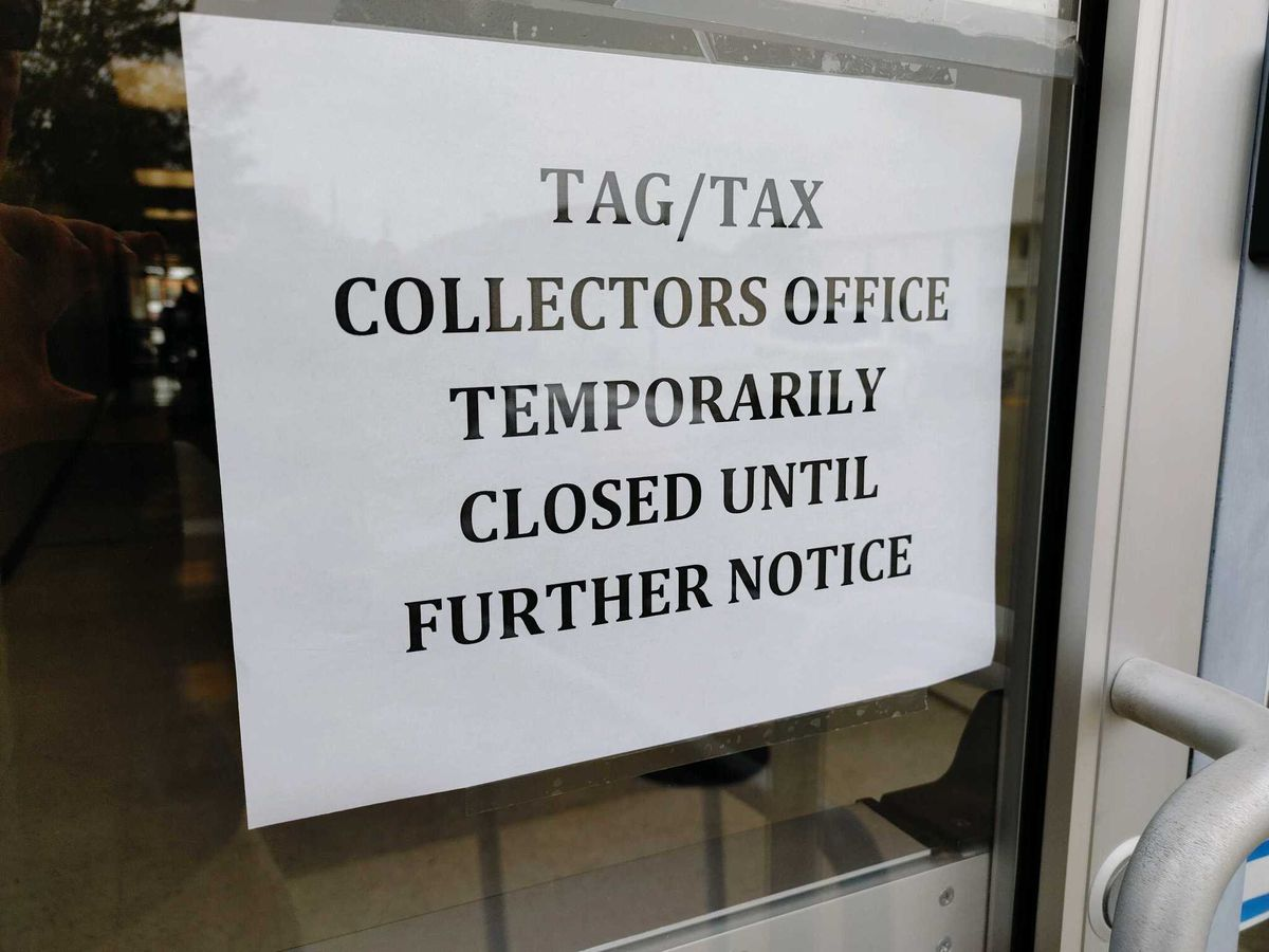 Tax collector office in Biloxi closed due to COVID-19