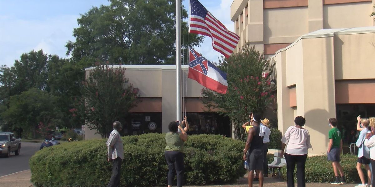 Forrest County removes state flags as governor makes flag change official