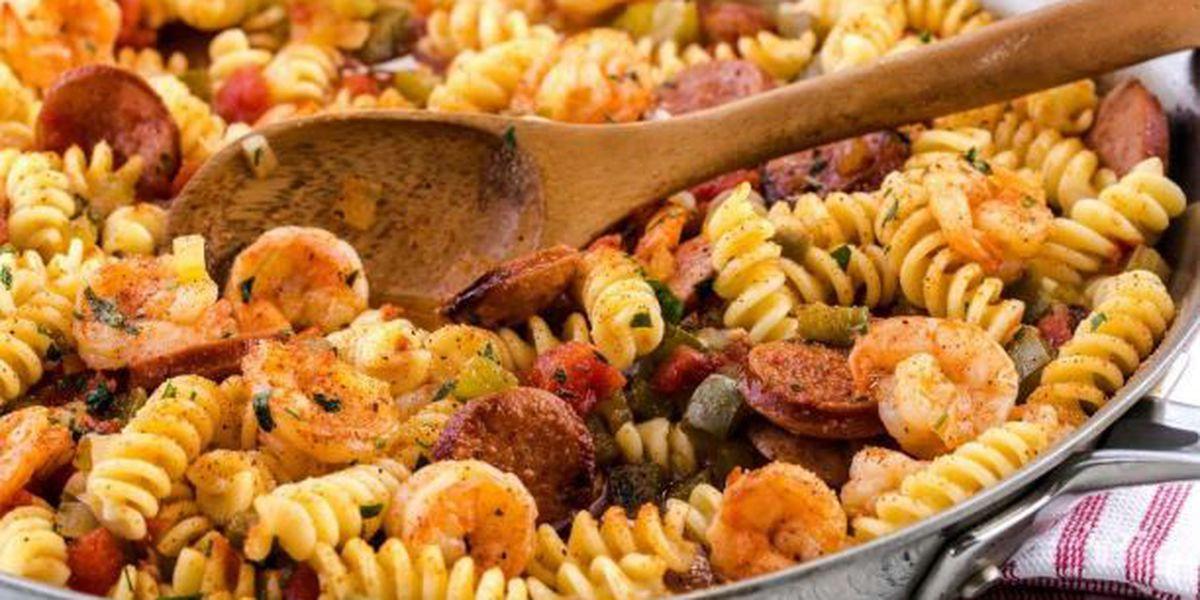 Celebrate National Shrimp Day with Sausage & Shrimp Pastalaya