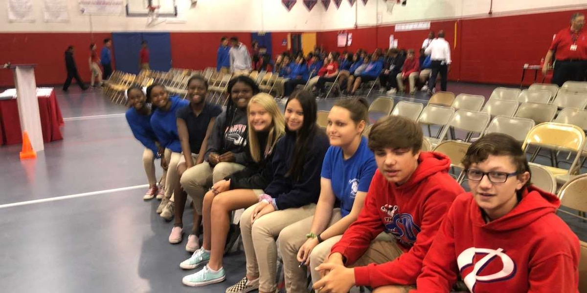 Colmer Middle School students ready to compete against the world