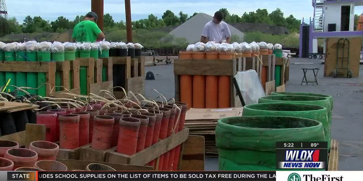 Preparations underway for Biloxi's Fourth of July fireworks display
