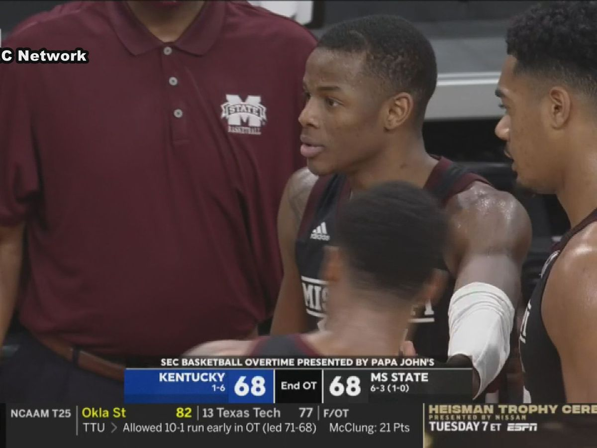 Mississippi State falls to Kentucky in double overtime