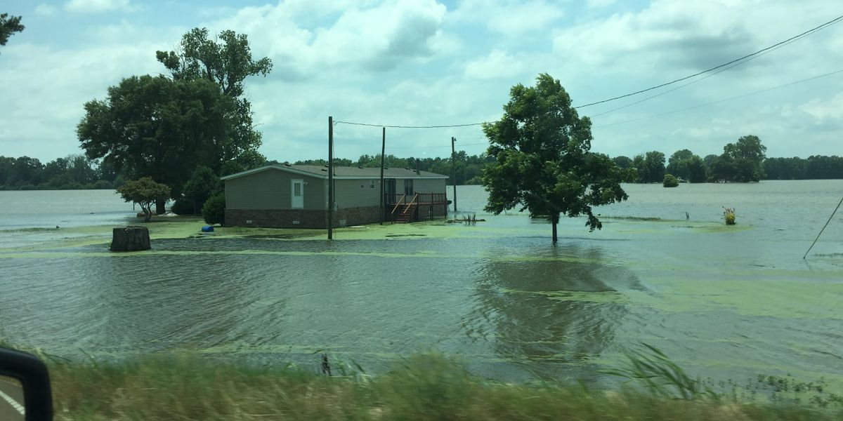 New Mississippi River crest as backwater flood persists