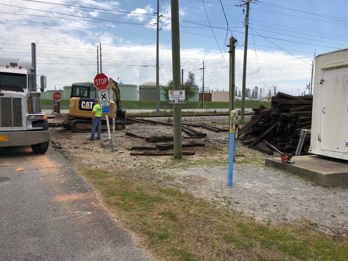 Railroad relocation well underway in Jackson County