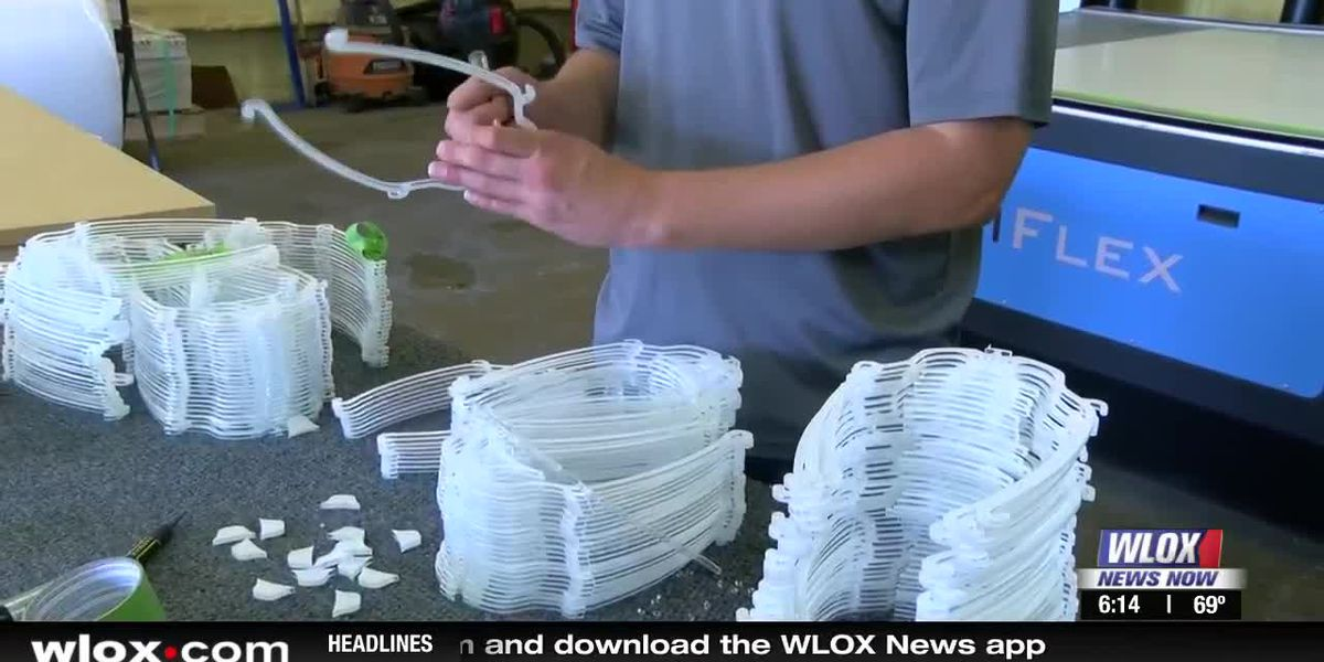 Waveland company making medical shields for health workers
