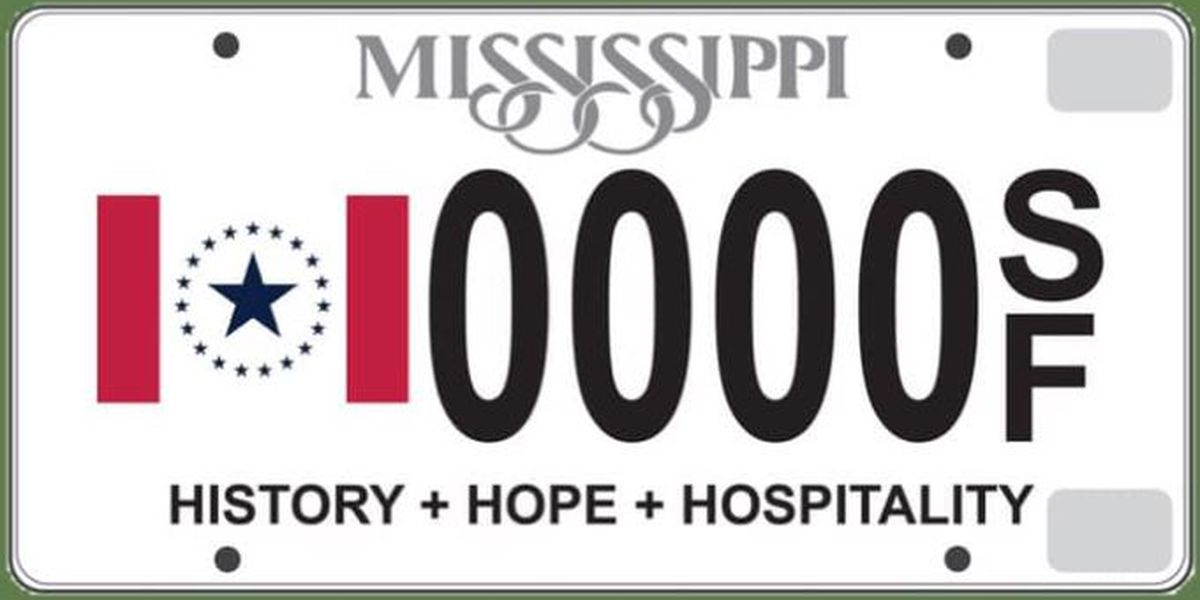 Mississippi residents can display state flag minus Confederate battle emblem with new specialty license plate