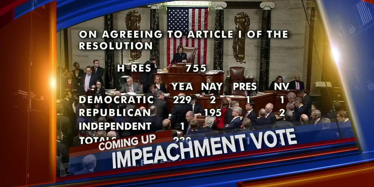 Looking back at the Trump impeachment vote