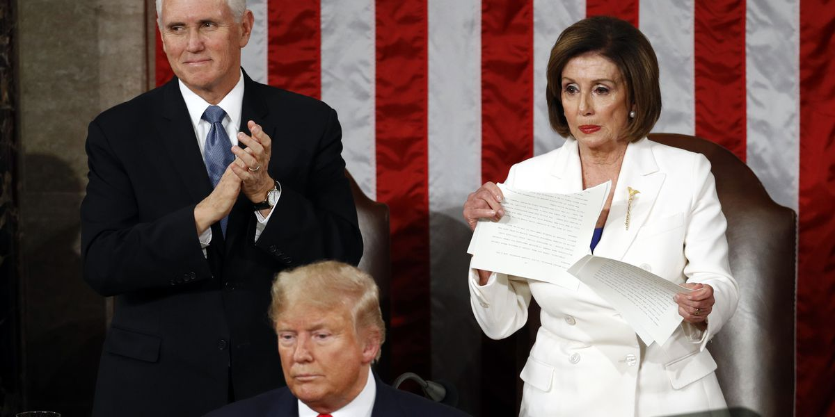 AP FACT CHECK: Ripping up copy of Trump's speech not illegal
