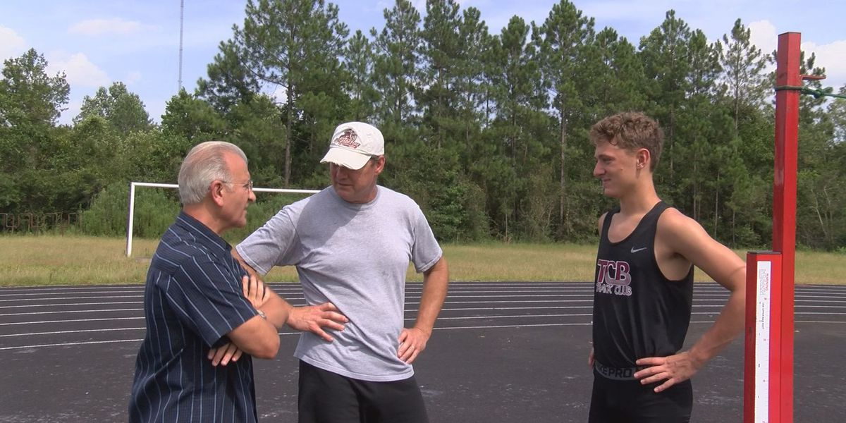 Daylon Goff is ready to leap skyward at the National Jr. Olympics Track & Field Championships