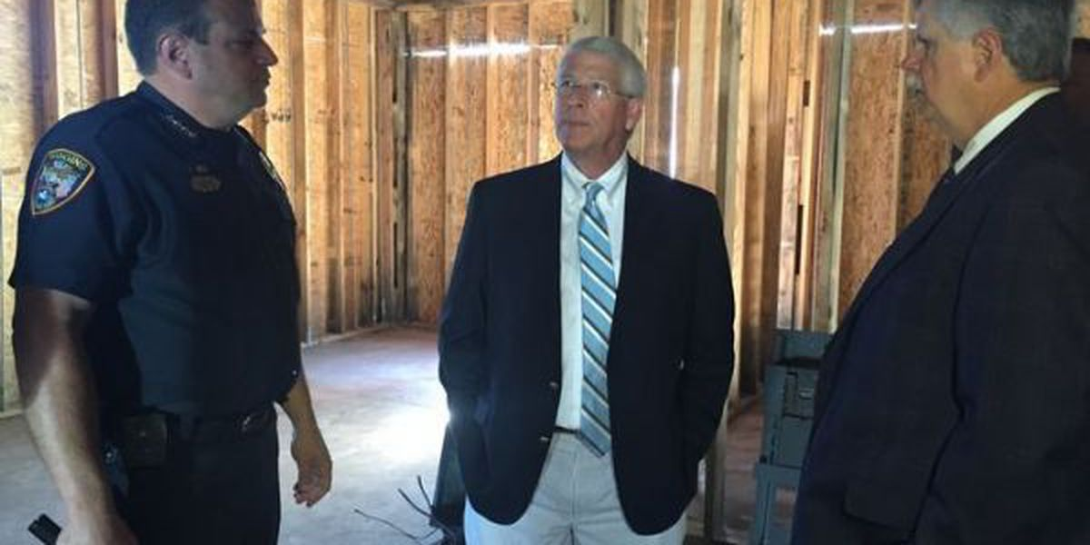 Wiggins police station renovation making progress