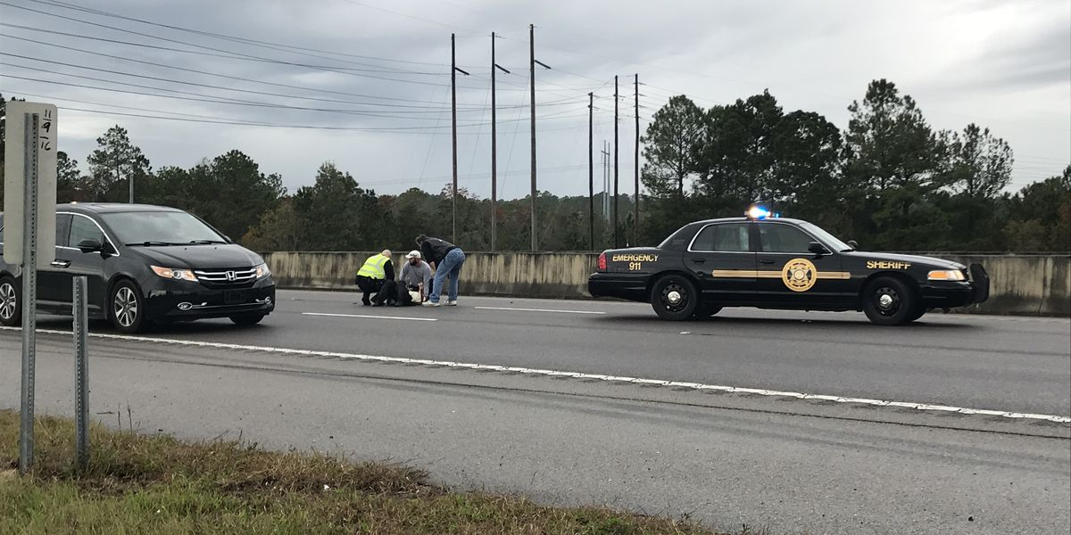 Motorcycle accident during Toy Run event delays traffic on I-10
