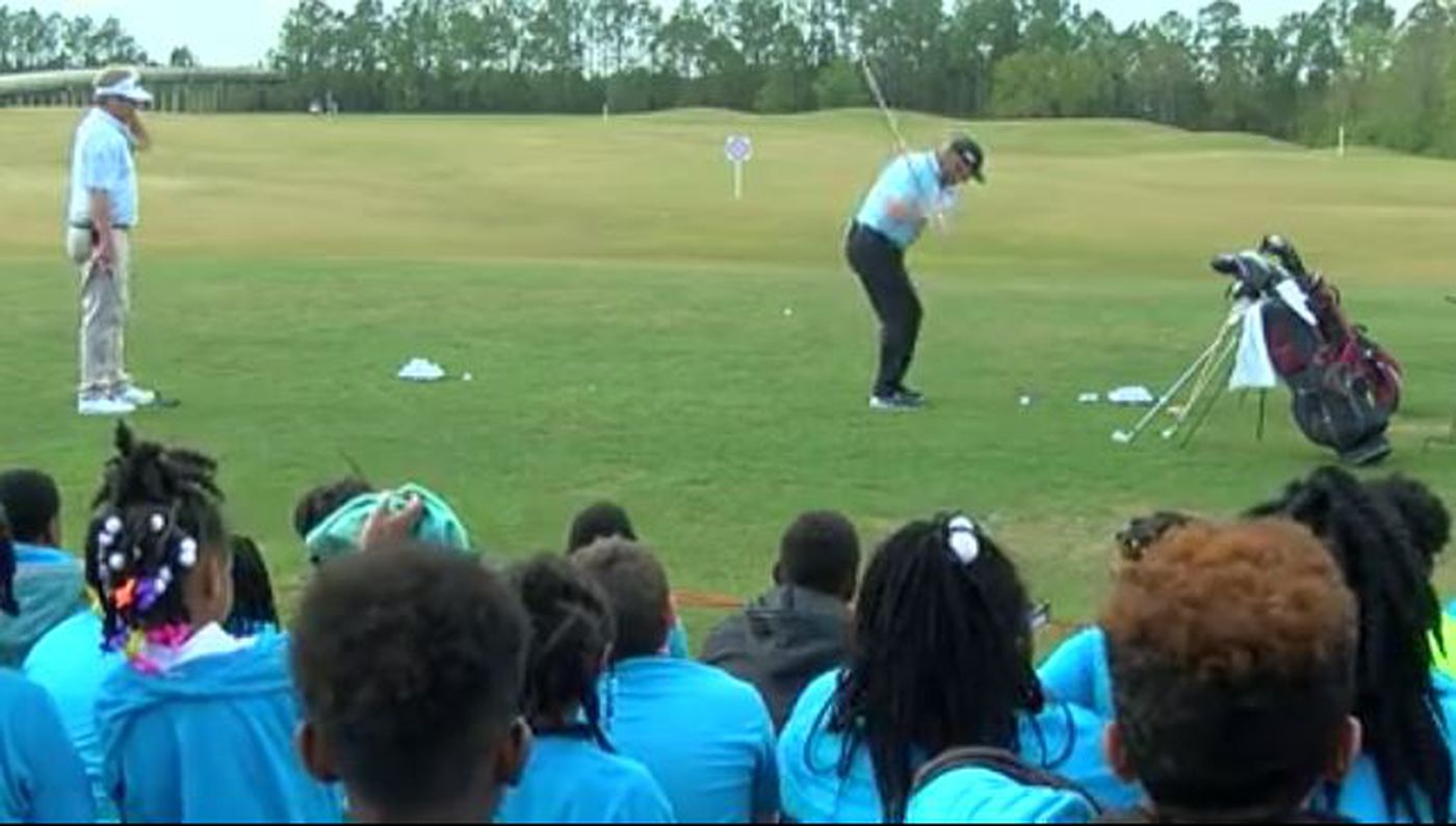 Coast kids learn from golf pros at junior clinic ahead of