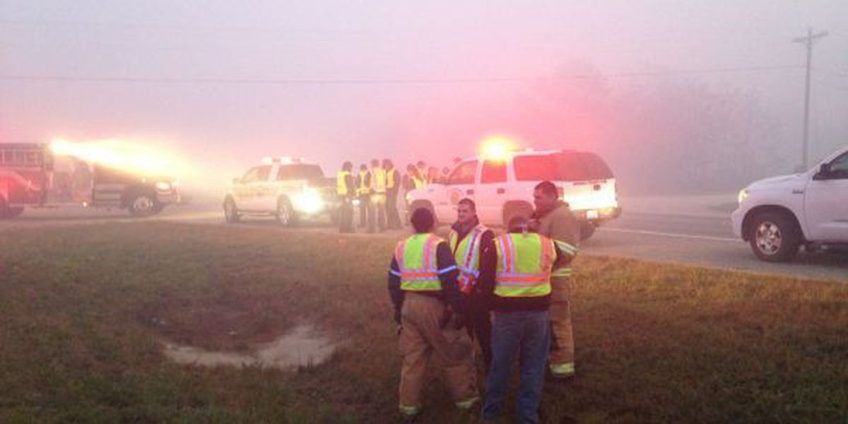 Fog and smoke create a dangerous combination on Highway 63
