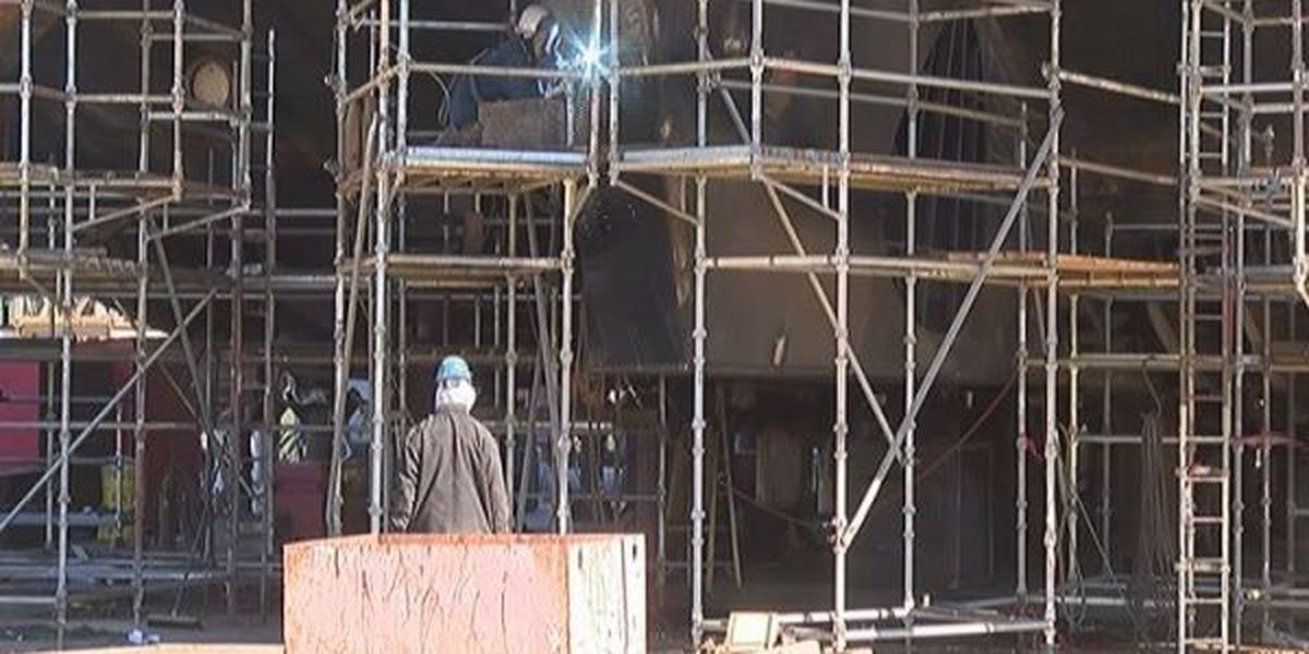 Cold snap chills shipbuilders in Jackson County