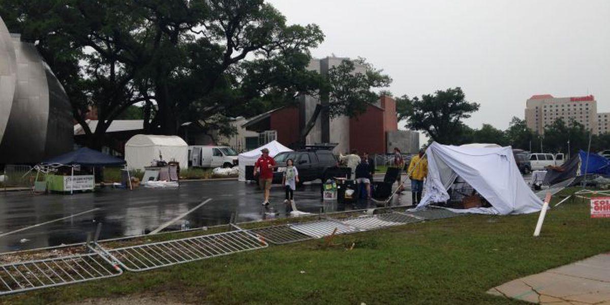 High winds destroy artwork, tents at Colohr Fest