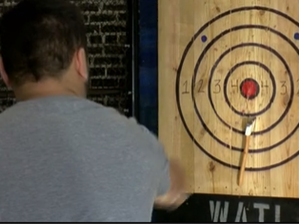 Axe throwing is now available in Biloxi