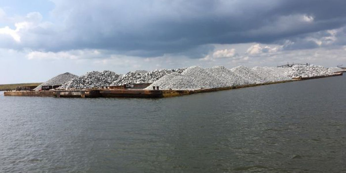 Massive erosion restoration project underway near East Pearl River